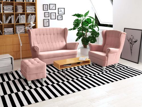Kanapa WINDSOR - kolor pink - sklep pegazmeble.pl